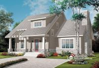 W3515 - House plan with cathedral ceiling, master bed with ...