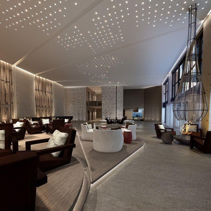 LED Lighting Ideas for a Contemporary Lobby  Salon