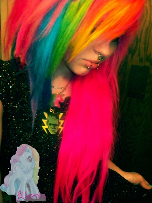 30+ Rainbow Emo Hairstyles - Hairstyles Ideas - Walk the Falls