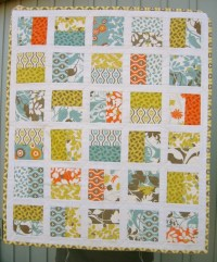 QUILT, Half Square Baby Crib Carseat Stroller Wall Hanging ...