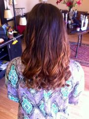 brown auburn ombre with red