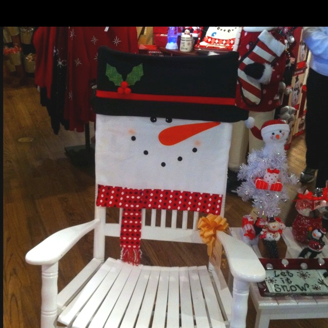Christmas rocking chair cover So cute  So easy  I