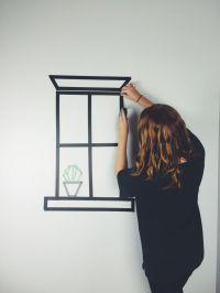 25+ Best Ideas about Tape Wall Art on Pinterest | Tape art ...