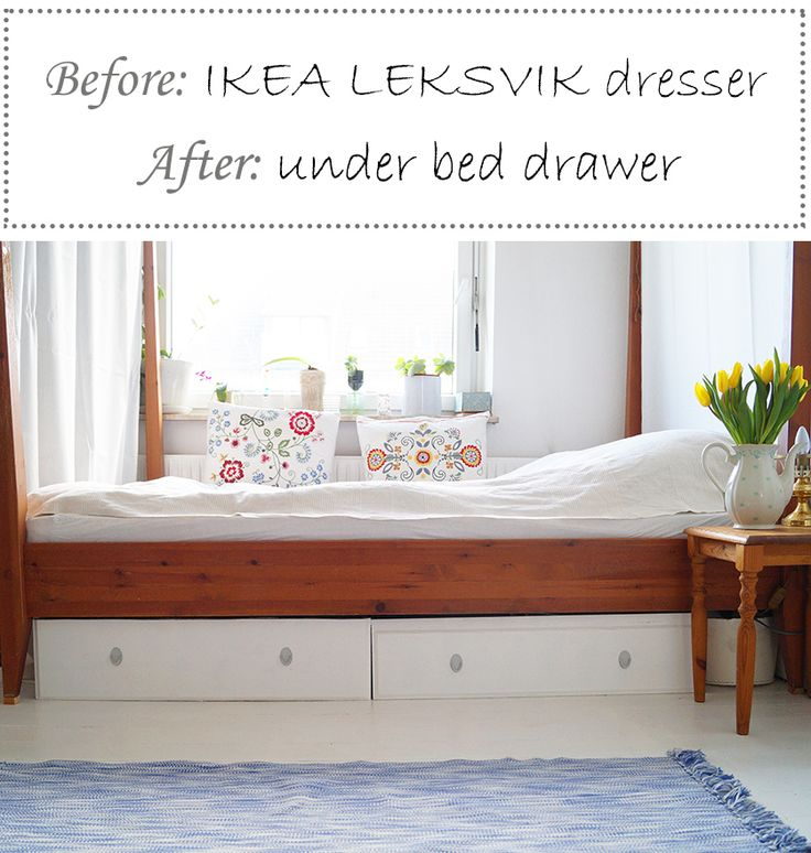 DIY IKEA hack transform your Leksvik dresser into some under bed drawers Tutorial in English