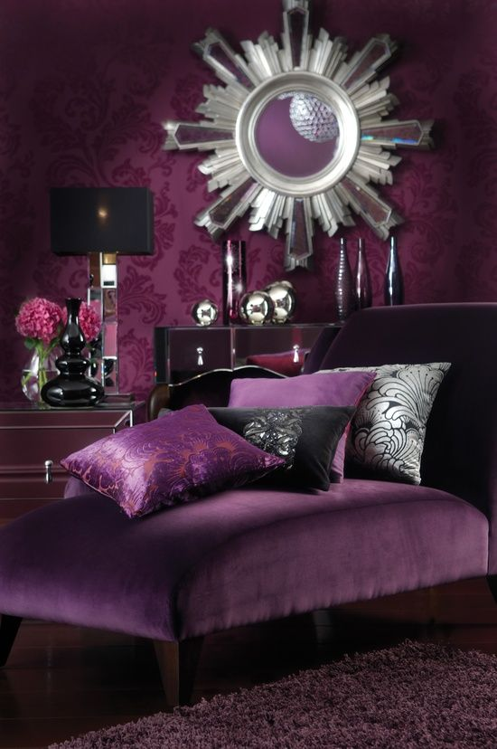 Landscaping And Interior Decoration Purple Silver Home Decor