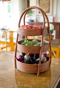 Kitchen Counter Fruit Vegetable Basket Organizer Storage ...
