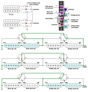5way super switch schematic  Google Search | Guitar Wiring Diagrams | Pinterest | Guitars