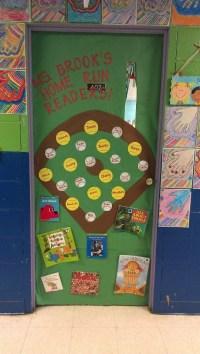 Baseball/Softball themed classroom door project! | Middle ...