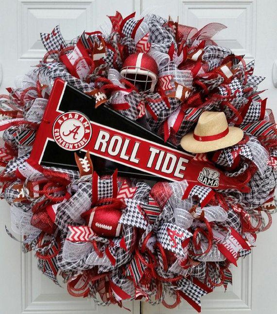 25 Best Ideas About Alabama Football Wreath On Pinterest