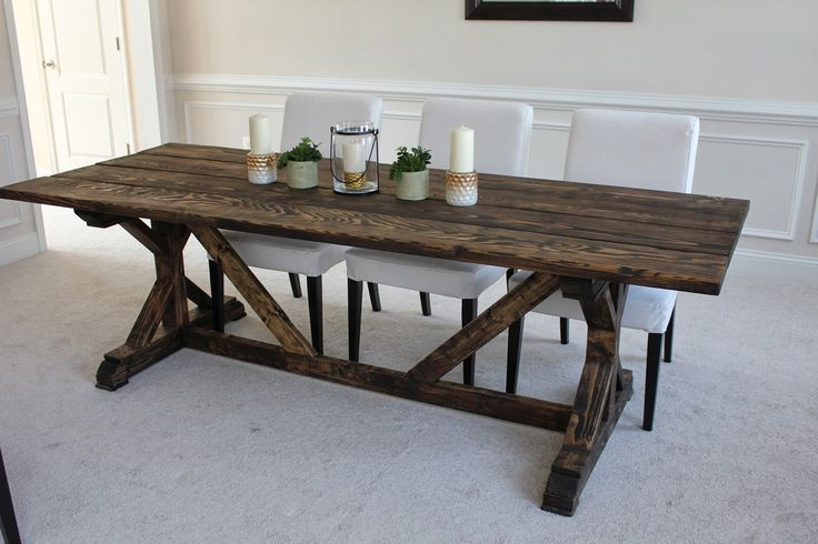 1000+ Ideas About Trestle Dining Tables On Pinterest