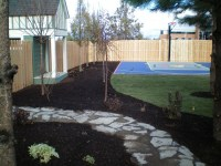 Basketball court with landscape | backyard redo ...