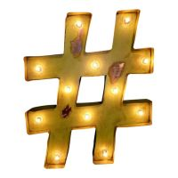 Hashtag Pound Symbol Marquee Sign Light | Marquee Sign ...