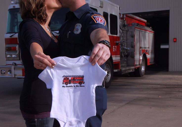 Firefighter Baby Announcement Oh Baby Pinterest To