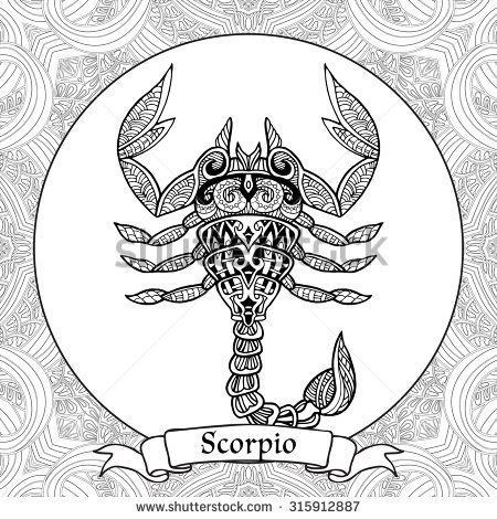 116 best images about Zodiac Signs Coloring Pages on Pinterest