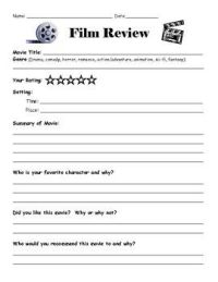 17 Best images about Writing a Movie Review on Pinterest ...