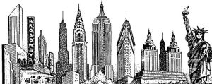 york skyline drawing landscape sketch nyc brochure drawings clipart tattoo google skylines ny silhouette blogthis email building cool cartoon clipground