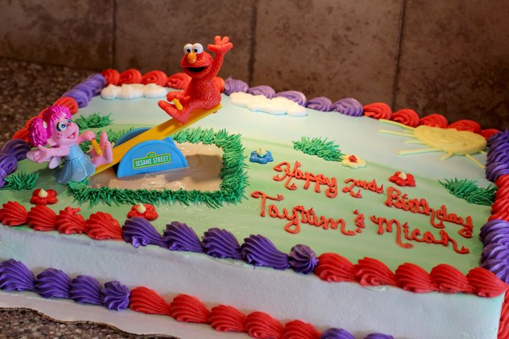 Elmo Amp Abby Birthday Party Cake From Walmart Told Them