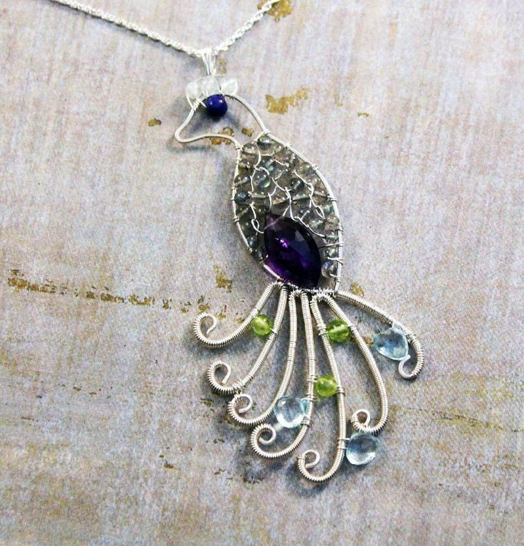 VickieGould: Peacock Pendant, Wire Jewelry Tutorial