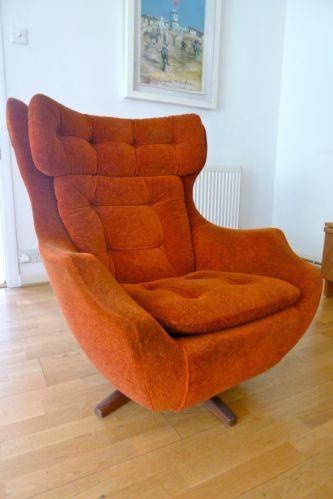 Vintage Parker Knoll Egg Swivelrock chair  Swivel chair