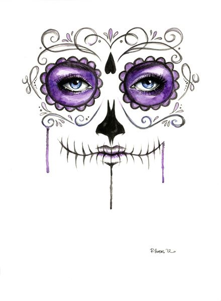Purple Girl Candy Skull Wallpaper Purple Sugar Skull Be Cool Fondant And Sugar Skull Art