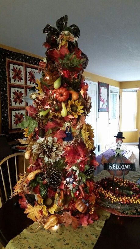Fall Tree from a tomato cage  Halloween  Pinterest  Trees Fall and Tomatoes