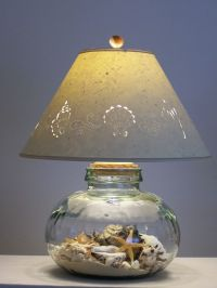 Glass Lamp filled with Sand and Shells. | Beach . Beach ...