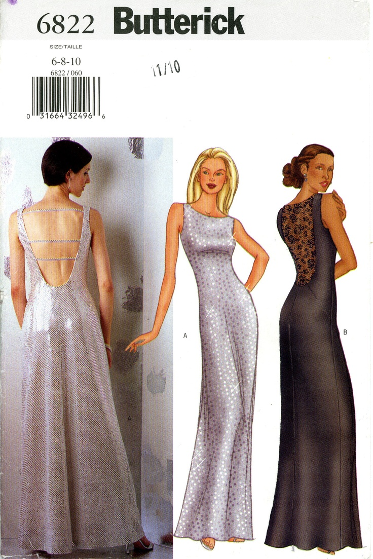 Butterick Prom Evening Dress Pattern  so fancy for her