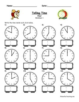 Best 25+ Clock worksheets ideas on Pinterest