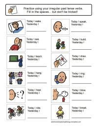 Irregular Past Tense Verb Worksheets | Kids learning ...