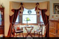 Victorian window treatment Moreland valance curtains tied