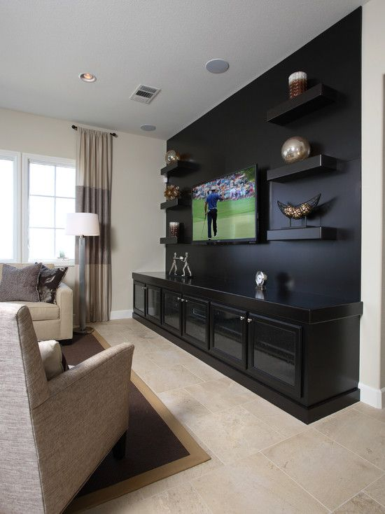 diy floating shelves for my living room best color schemes rooms traditional media design, pictures, remodel, decor ...
