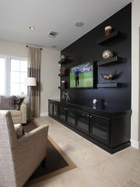 Traditional Media Room Design, Pictures, Remodel, Decor