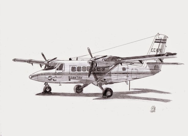 AIRCRAFT DRAWINGS: De Havilland Canadá DHC-6-200