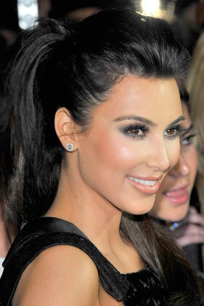 25 Best Ideas About Kim Kardashian Hairstyles On Pinterest