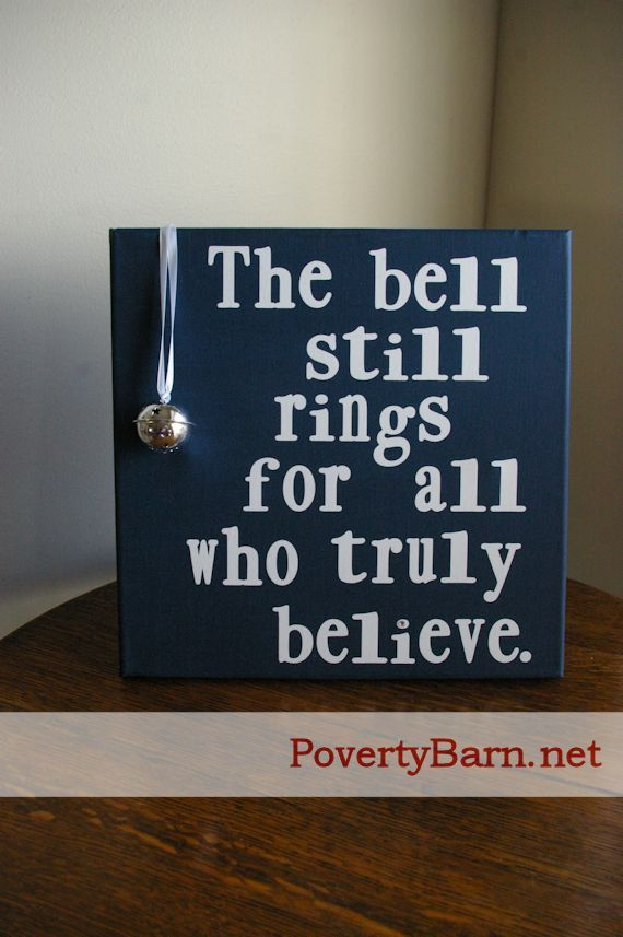 Jingle Bell Canvas Art: When decorating your mantle for the Christmas season with the theme of jingle bells in mind,include this