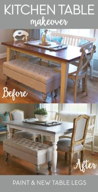 The 25+ best Dining table makeover ideas on Pinterest ...