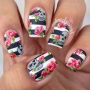 2014 year nails design flower