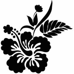 clip flower hibiscus tattoo rose drawings roses