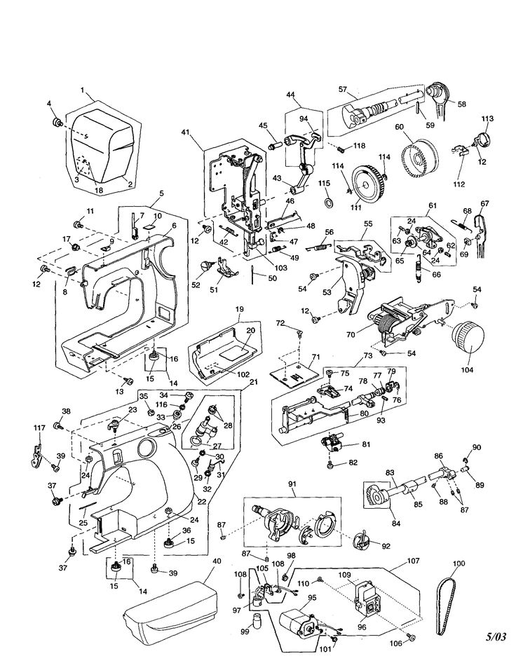 Sewing Machine Motor Wiring Diagram, Sewing, Free Engine