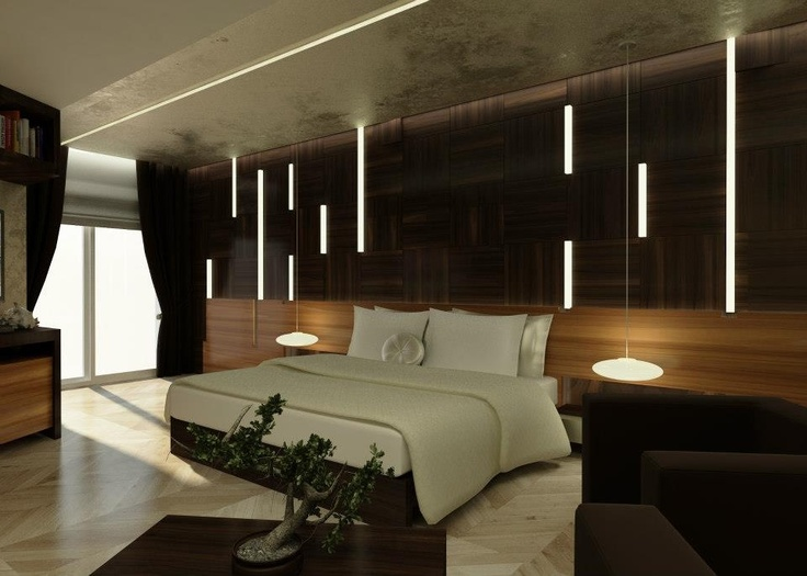 Modern, Wood Panels, Bedroom Design, Contemporary Interior