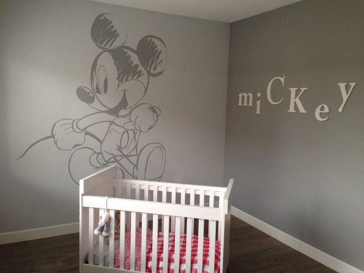 Mickey Mouse wall painting on babyroom by OVG  Kids