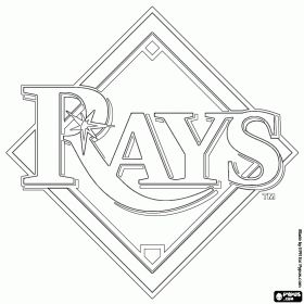 Tampa Bay Rays logo, baseball team from the American
