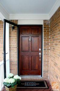 Wooden front door color plus storm door - poshhome.info ...
