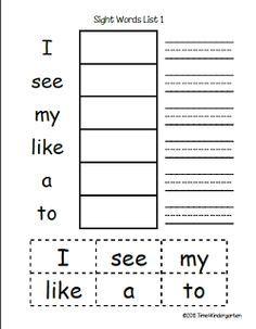 1000+ ideas about Preschool Sight Words on Pinterest