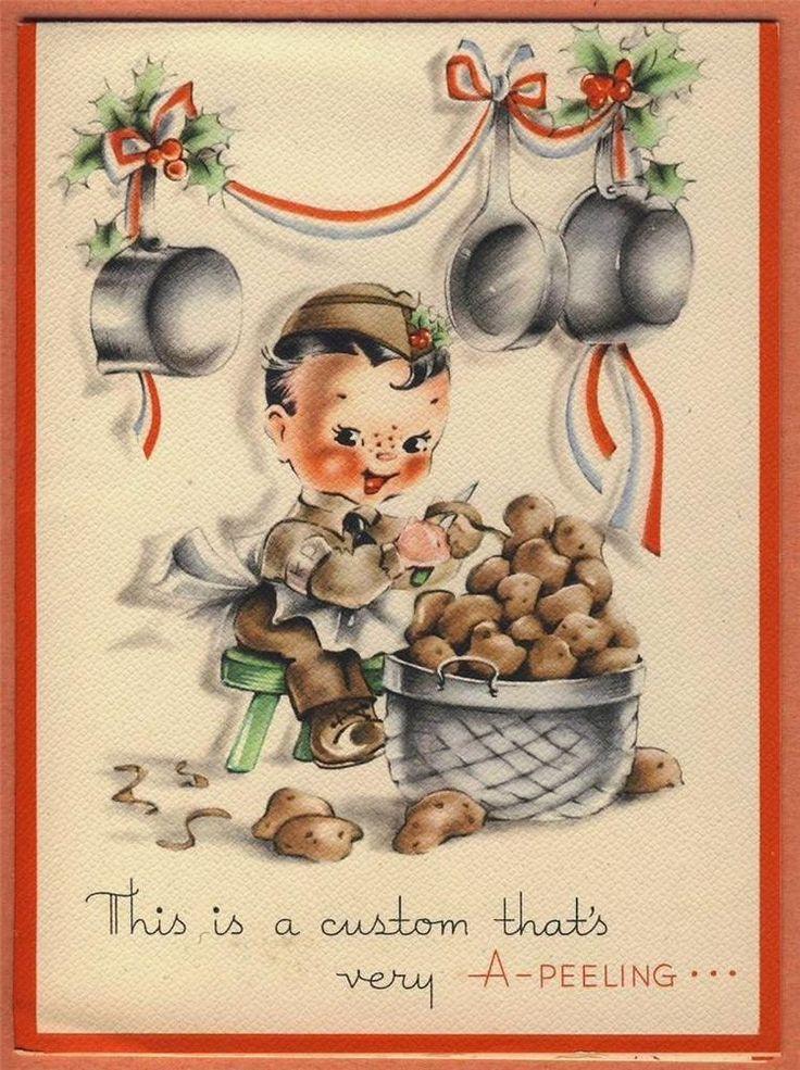 Vintage Military Servicemansoldier World War II XMAS CARD