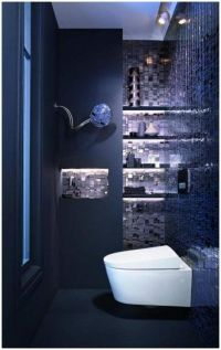 1000+ ideas about Dark Blue Bathrooms on Pinterest