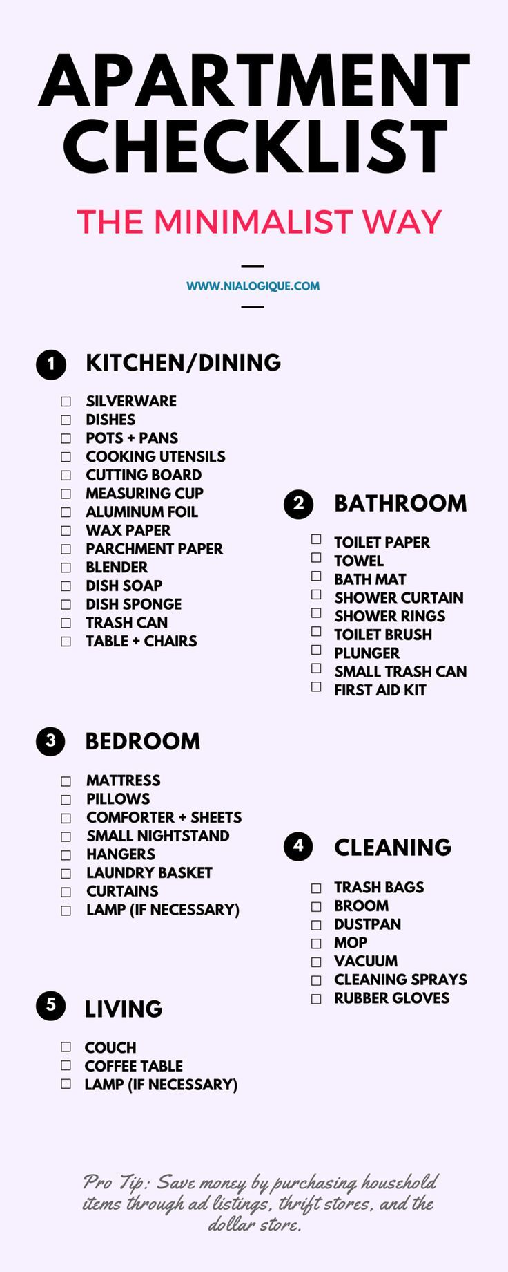 25 Best Ideas about First Apartment Checklist on Pinterest  First apartment list First