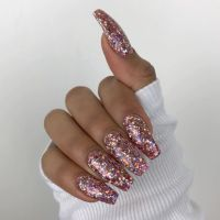 The 25+ best ideas about Glitter Nails on Pinterest | Gold ...