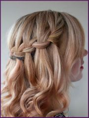 waterfall braid cute hairstyles