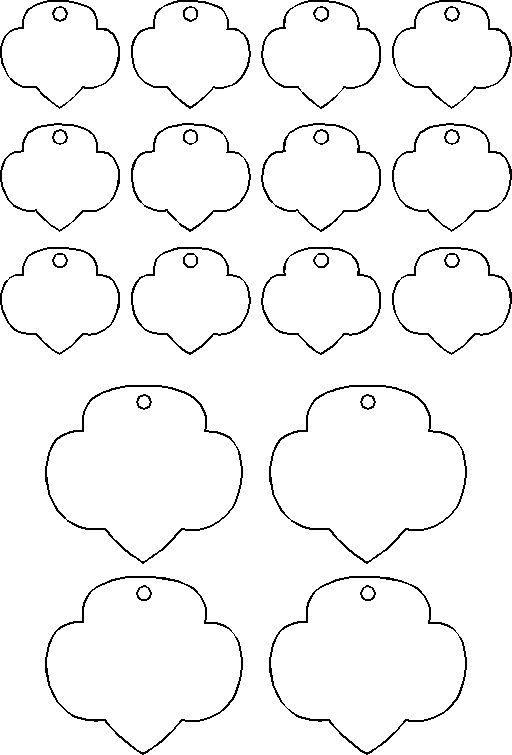 template for shrinky dink trefoils (Girl Scout craft or